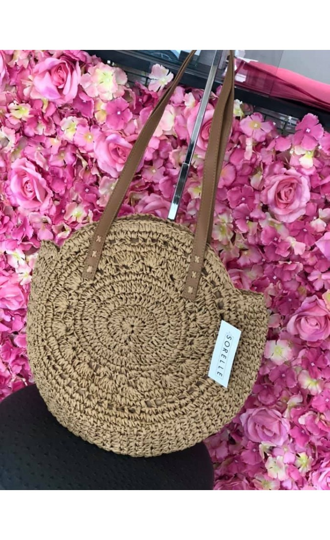Straw Shoulder Bag | Natural