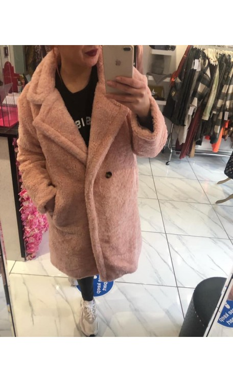 Teddy Coat | Pink