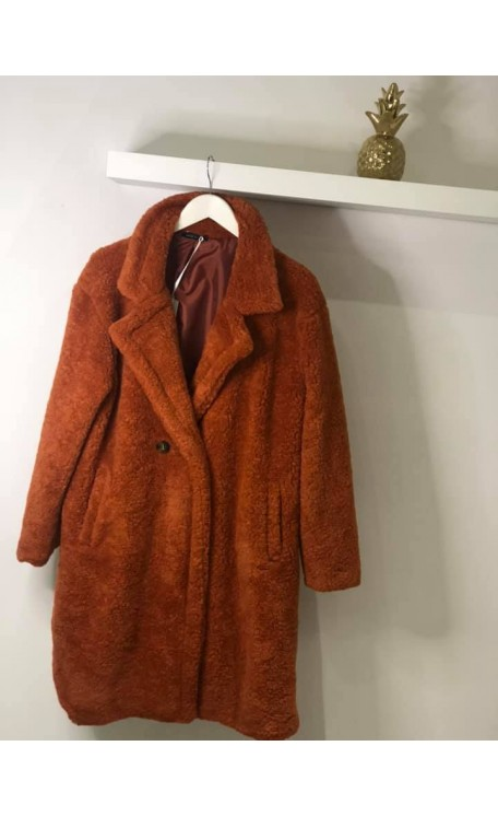 Teddy Coat | Rust